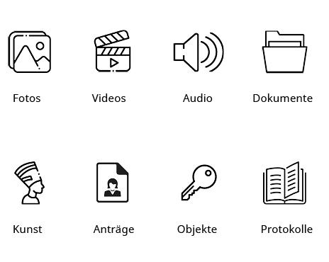 Archivierungs- und Dokumentenverwaltungssoftwar: M-Box verwaltet Fotos, Video, Audio, Dokumente, Kunst, Anträge, Objekte, Protokolle