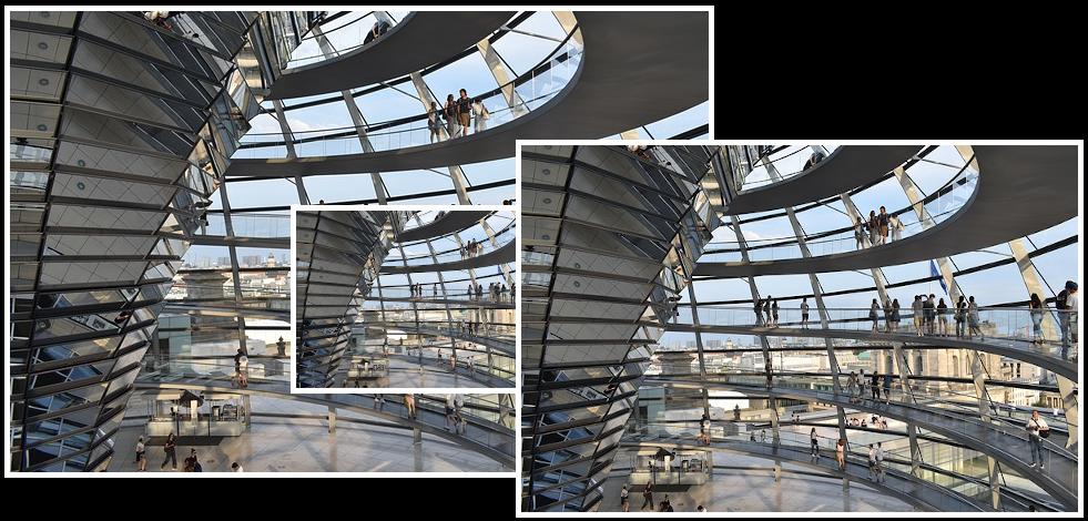 Beispiel Bildverwaltung: Kuppel Reichstag Berlin in verschiedenen Größen